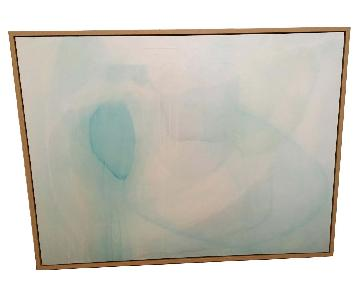 Pottery Barn Seaglass Hues Framed Canvas by Tricia Strickfad