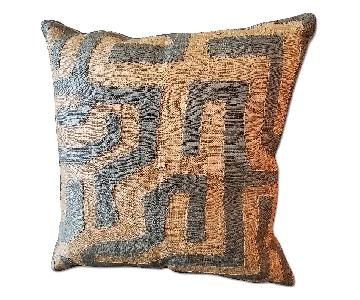 One King's Lane Kuba Cloth Pillow