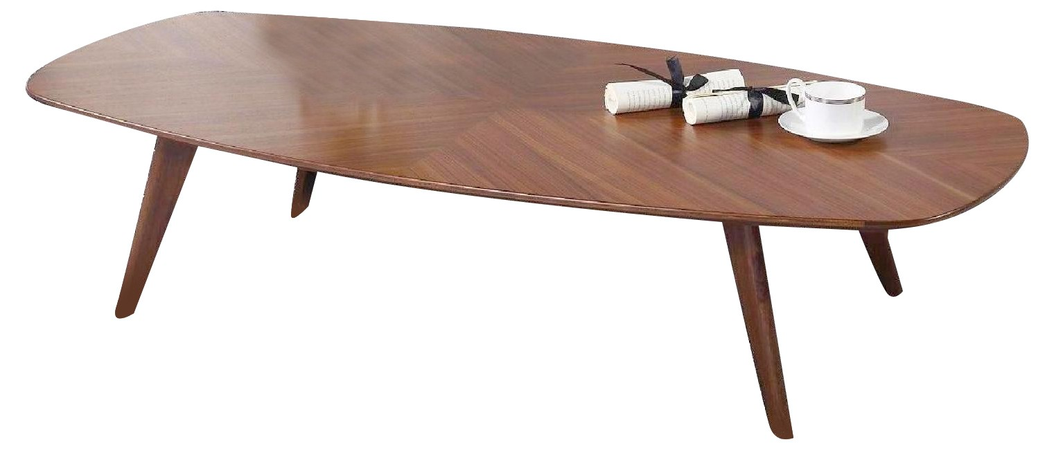 Mid-Century Style Cocktail Table in Walnut Finish w/ Crisscr