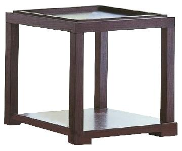 Modern Square Side Table w/ Removable Serving Tray Top