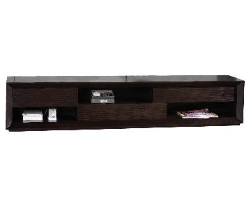 Modern TV Console w/ Asymmetric Drawers & Shelves