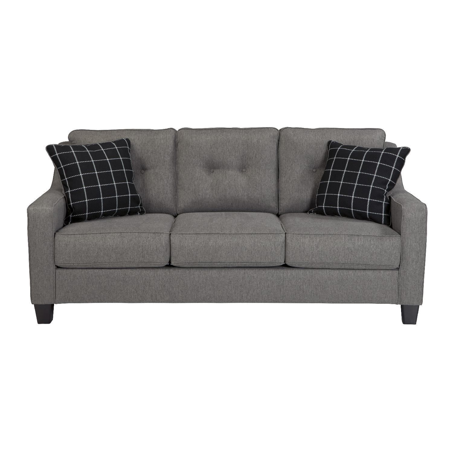 Ashley's Brindon Charcoal Gray Comptemporary Fabric 3 Seater Sofas