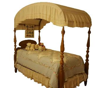 Ethan Allen Canopy Twin Bed