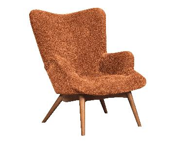 Ashley's Pelsor Contemporary Fabric Accent Chair In Orange