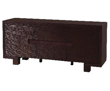 Modern Buffet/Sideboard in Wenge Finish w/ Etch Front Design