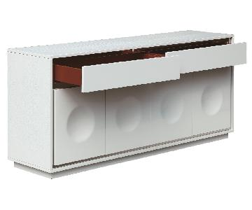 Modern Sideboard in High Gloss White Finish With Crocodile P