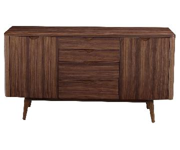 Mid-Century Style Buffet/Sideboard in Walnut Finish w/ 2 Doo