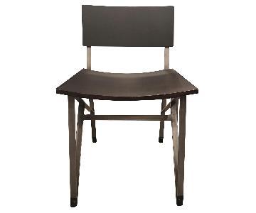 CB2 Jonas Dining Chairs in Dark Brown