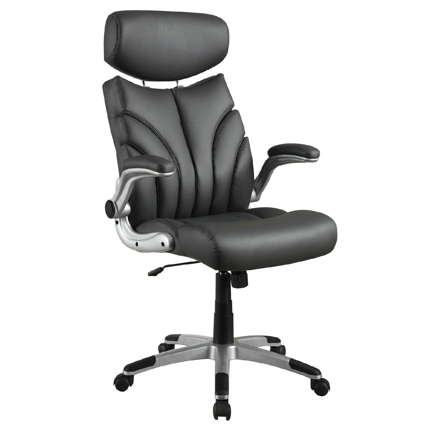 Contemporary Office Chair in Padded Faux Leather
