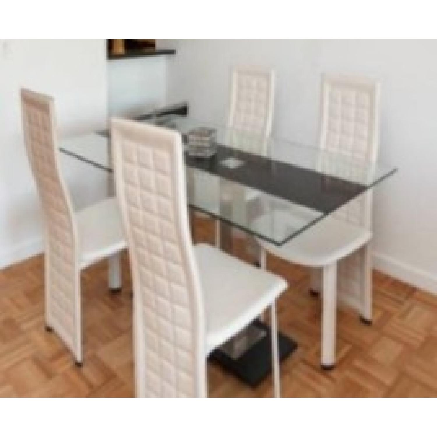Linea Italia Glass Top Dining Table w 4 Chairs AptDeco : 1500 1500 frame 0 from www.aptdeco.com size 1500 x 1500 jpeg 125kB