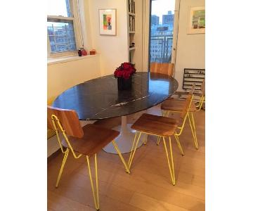 Vintage Saaranin for Knoll Tulip Marble Dining Table