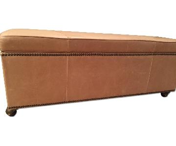 Mitchell Gold + Bob Williams Leather Ottoman