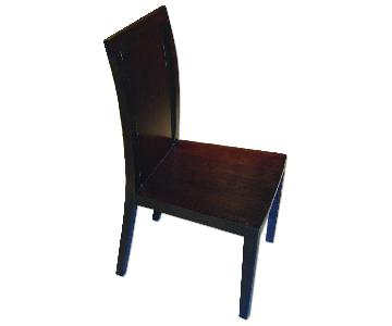 Modern Wood Dining Chair in Wenge Finish