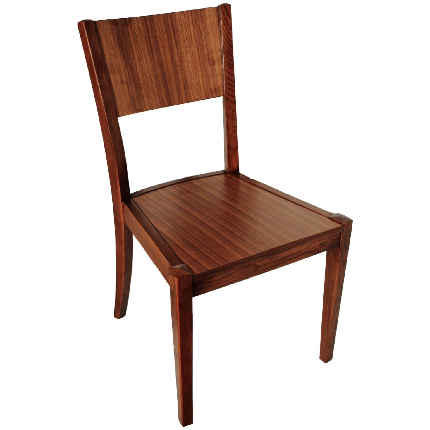 Modern Style Wood Dining Chair in Walnut Finish