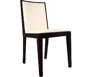Modern Dining Chair in Wenge Finish w/ Padded Microfiber Sea