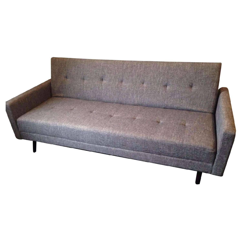 Modern Convertible Sofa Sleeper in Grey Fabric w/ - AptDeco