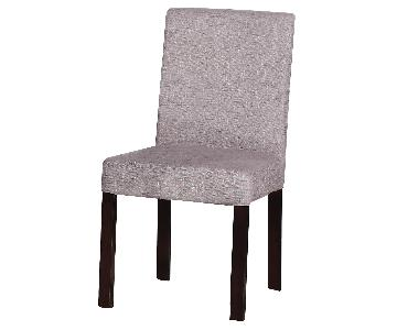 Modern Dining Chair in Black Solid Wood Frame & Padded Seat/