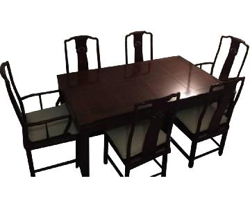 Bloomingdale's 7 Piece Mahogany Dining Set