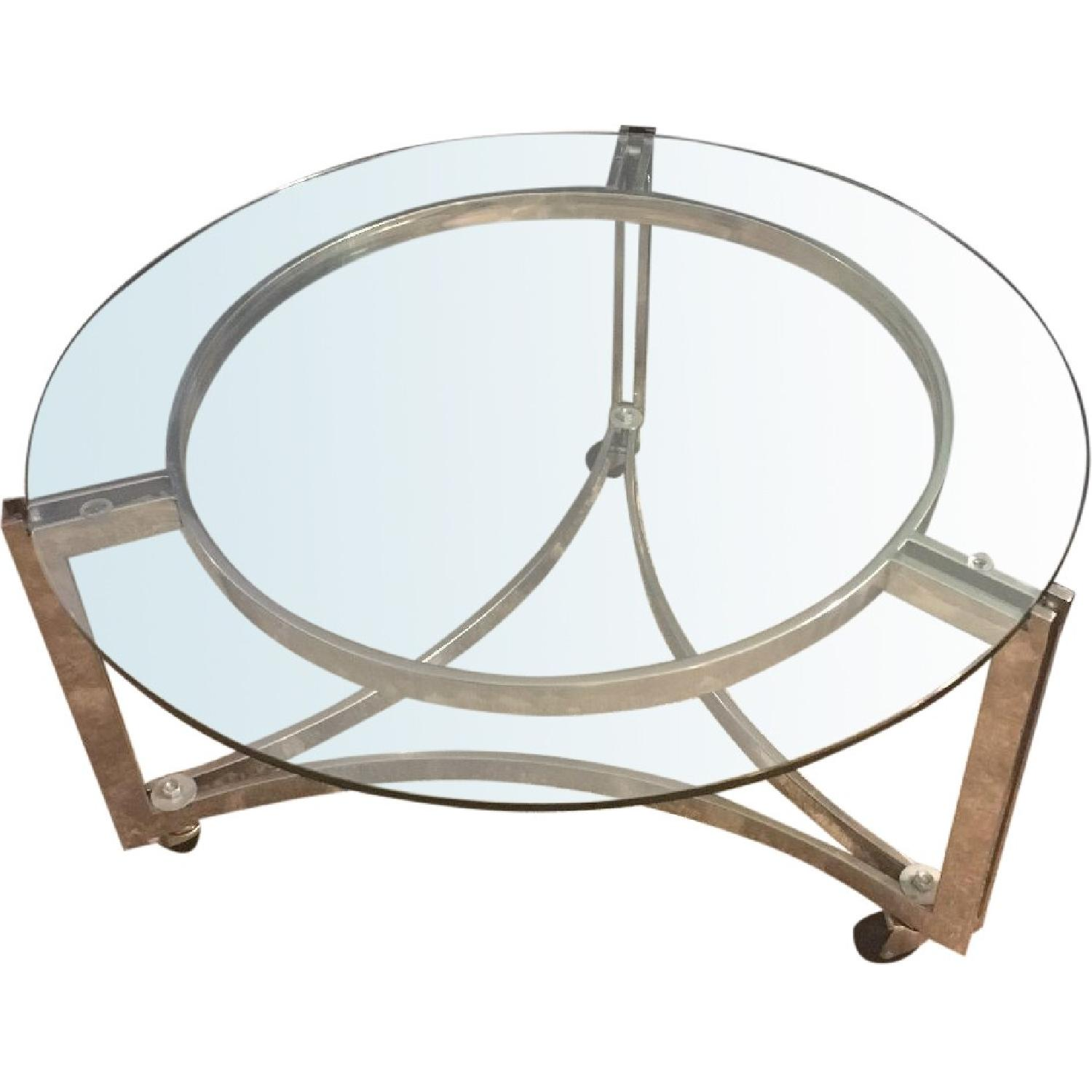 All Modern Round Glass Coffee Table Aptdeco