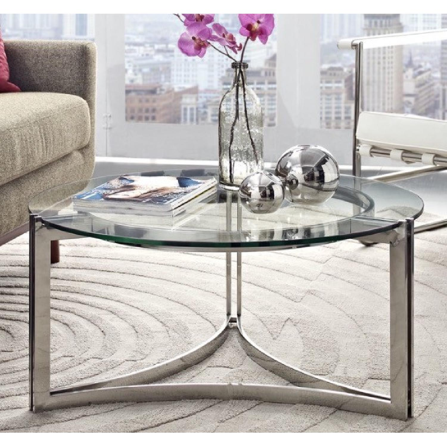 All Modern Round Glass Coffee Table