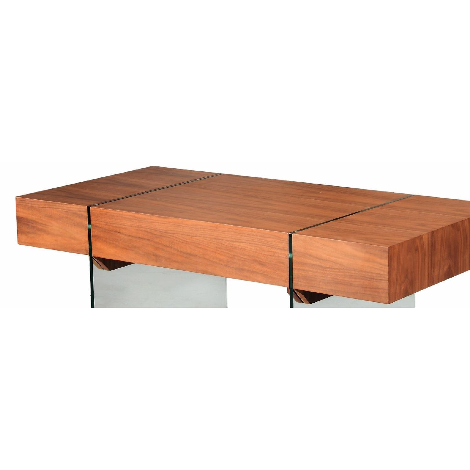 Writing Desk In Walnut W Storage Compartments Amp Aptdeco