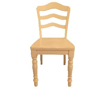 Pottery Barn Teen Distressed Off-White Chair