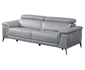 Modern Sofa with Electric Recliner Adjustable Headrests in G