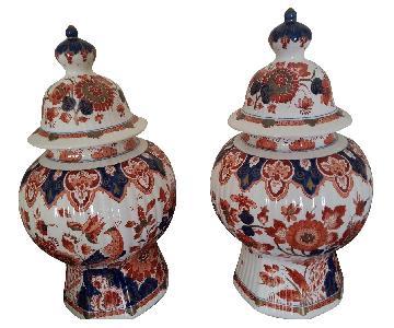 Royal Delft Polychrome Jars