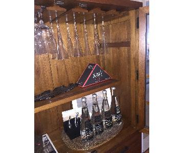 Crate & Barrel Wine/Bar Glass Cabinet