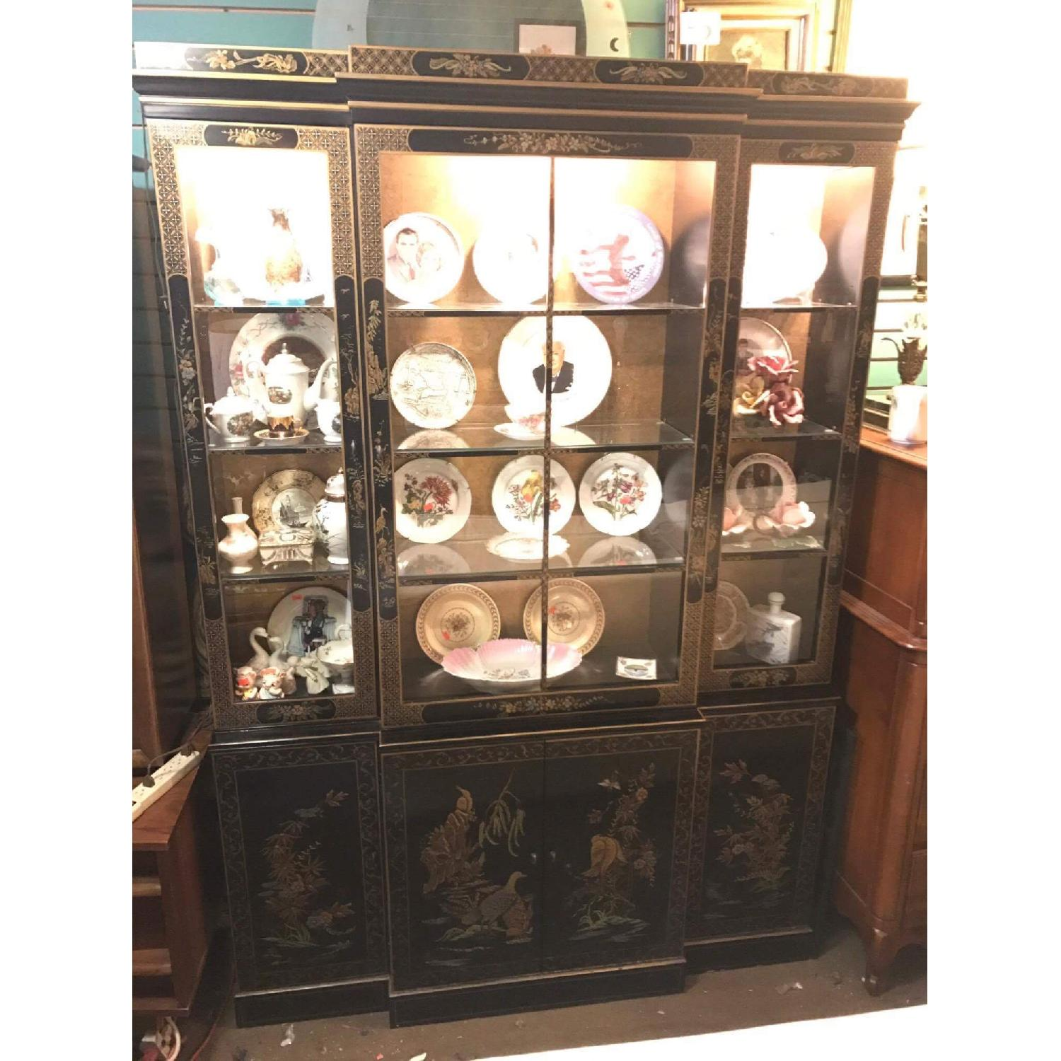 ... 1980s Drexel Heritage Asian China Cabinet 0 ...