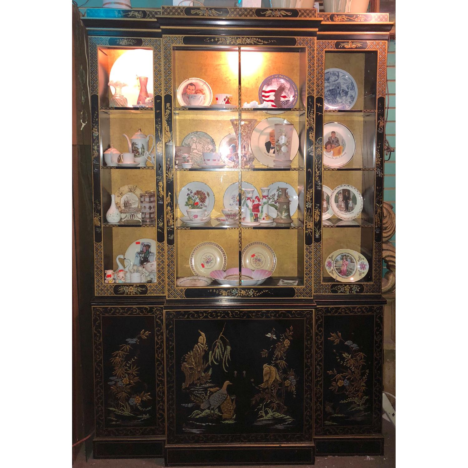 1980s Drexel Heritage Asian China Cabinet ...