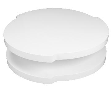 Artistically Shaped Modern Coffee Table in High Gloss White Finish