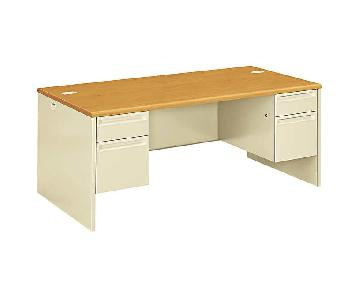 HON Office Furniture Wide Double Pedestal Desk