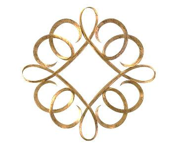 Christopher Guy Diamond Curl Mirror-20th Century Gold