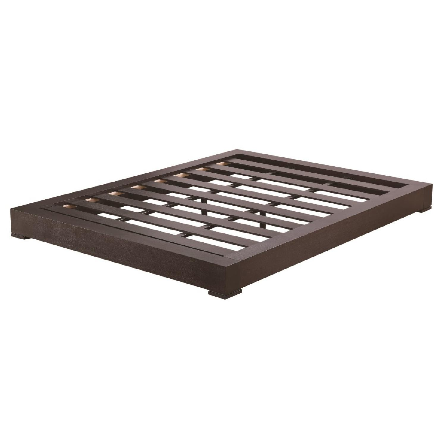 King Size Low-Profile Platform Bed in Espresso Finish