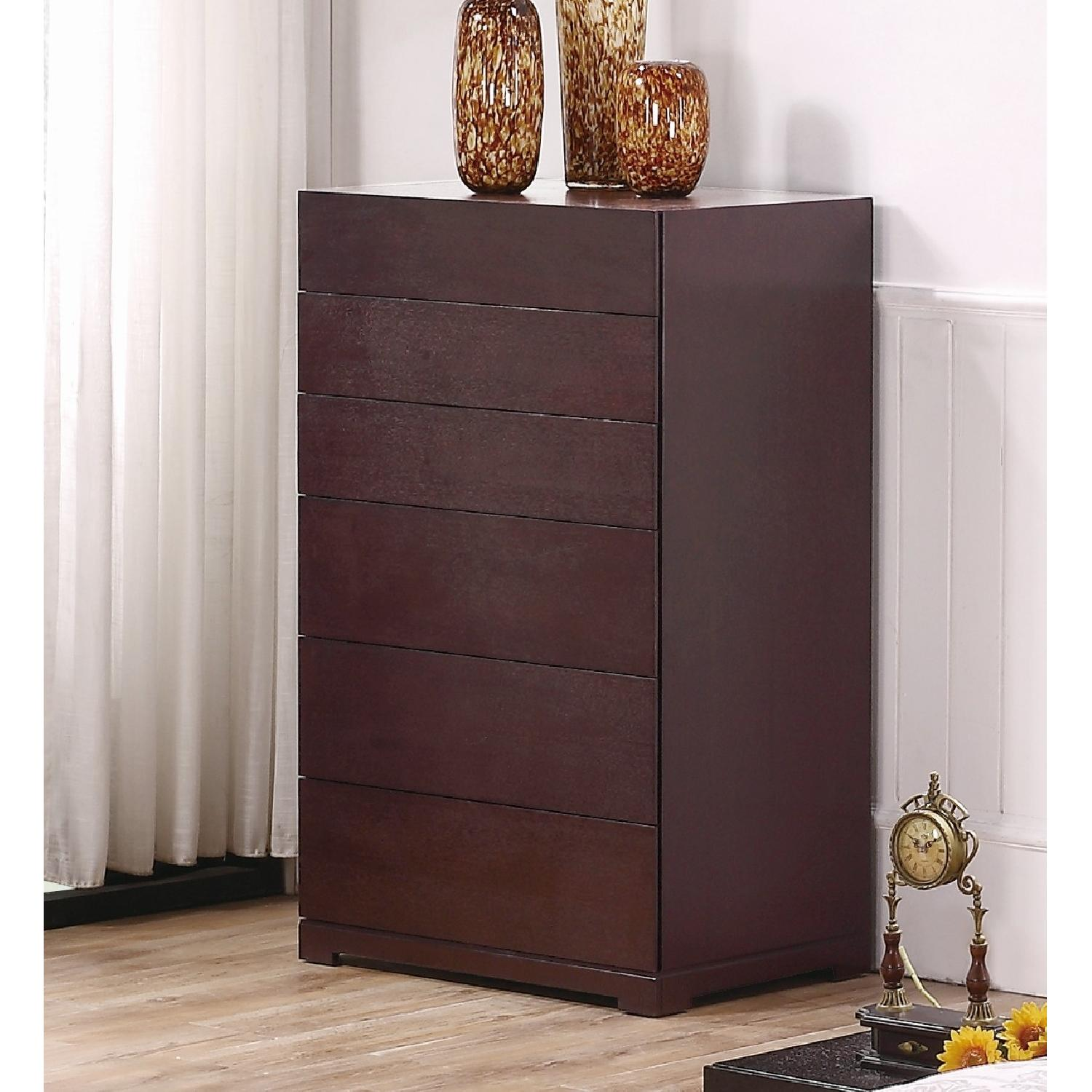 6-Drawer Chest in Espresso Finish w/ Premium Full Extension Tracks - image-1