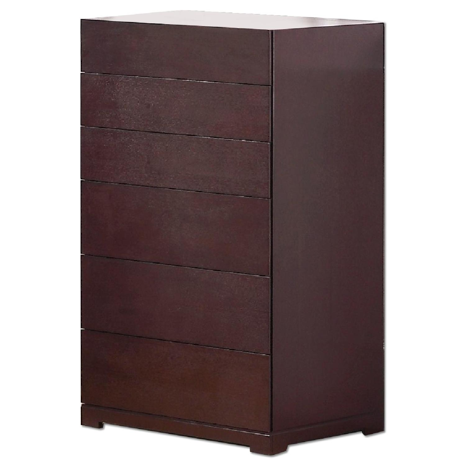 6-Drawer Chest in Espresso Finish w/ Premium Full Extension Tracks - image-0