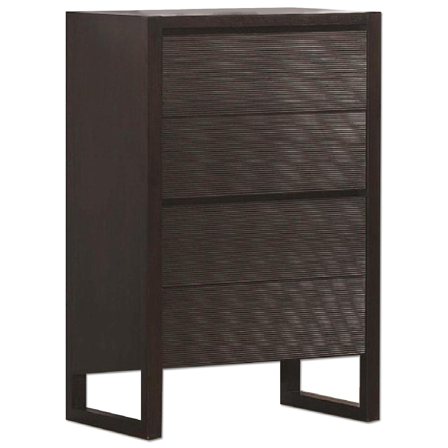Mid Century Style 4-Drawer Chest in Wenge Finish