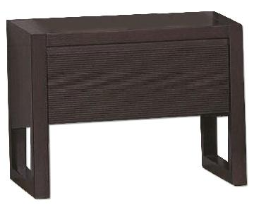 Mid Century Style 1-Drawer Nightstand in Wenge Finish