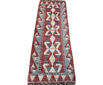 Turkish Hand-Woven Rug Kilim Runner