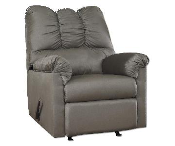 Ashley's Darcy Contemporary Microfiber Recliner in Gray/Cobblestone
