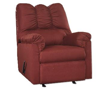 Ashley's Darcy Microfiber Contemporary Recliner in Red