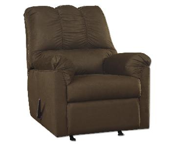 Ashley's Darcy Microfiber Contemporary Recliner in Cafe