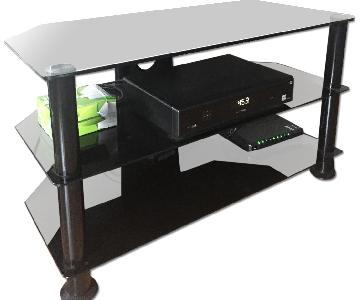 Bell'O Glass & Metal TV Stand