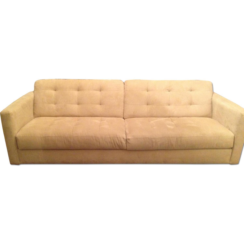 Macy\'s Mid Century Modern Mustard Yellow Sofa