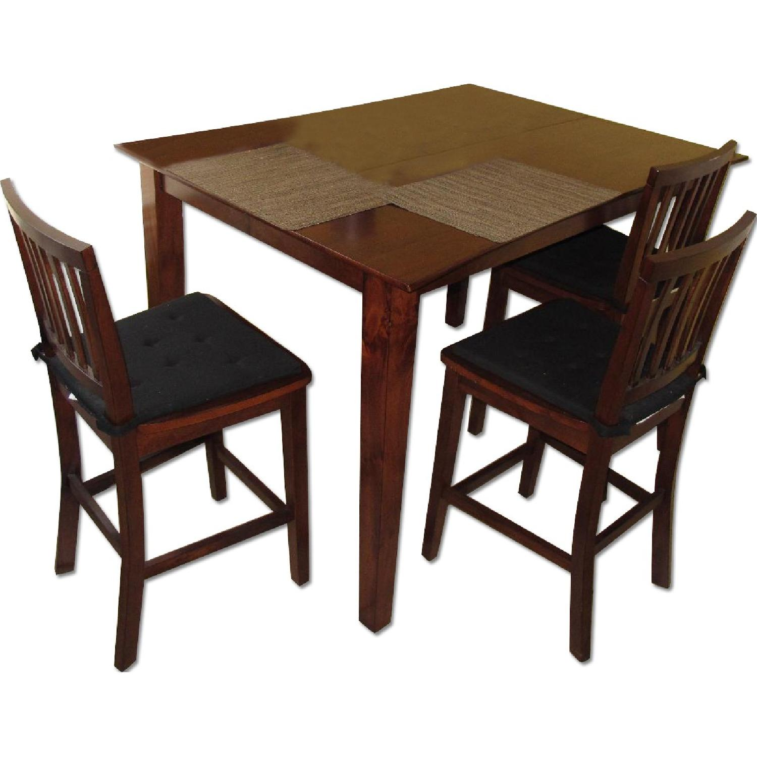 Picture of: Bob S Furniture Bar Height Extendable Dining Room Table W 6 Chairs Aptdeco