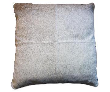 Restoration Hardware Cowhide Soft Hair Square Pillows - Set