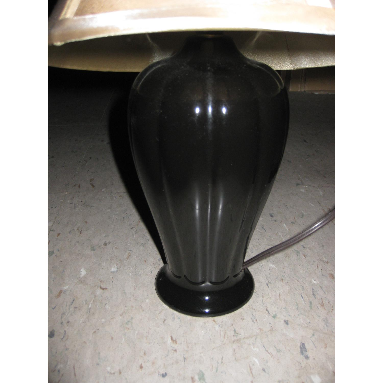 Bloomingdale's Curvey Black Table Lamp & Shade - image-3