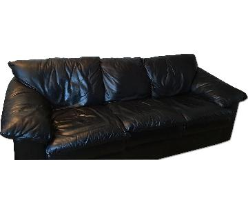 Black Leather Queen Sleeper Sofa