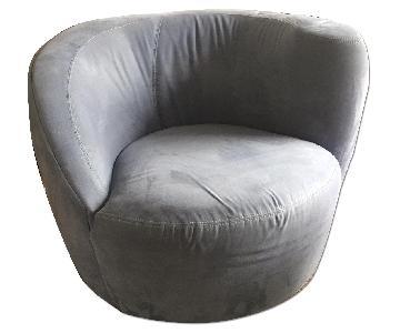 Jensen Lewis Microfiber Swivel Chairs